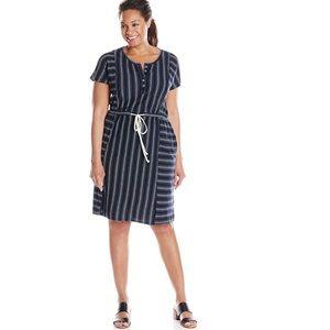 Lucky Brand Navy Stripe Boho Dress Size 1X